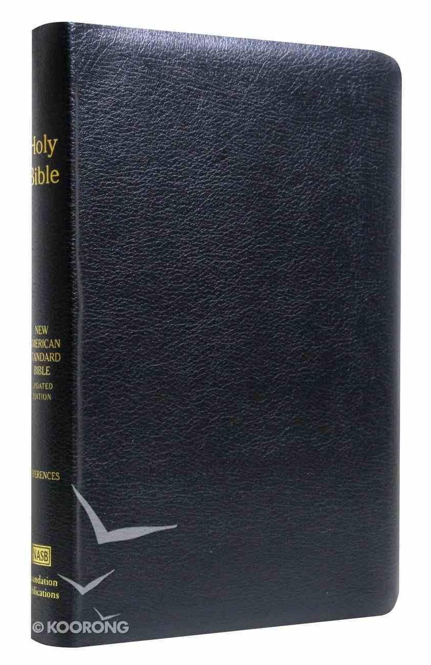 NASB Large Print Ultrathin Reference Bible Black Bonded Leather