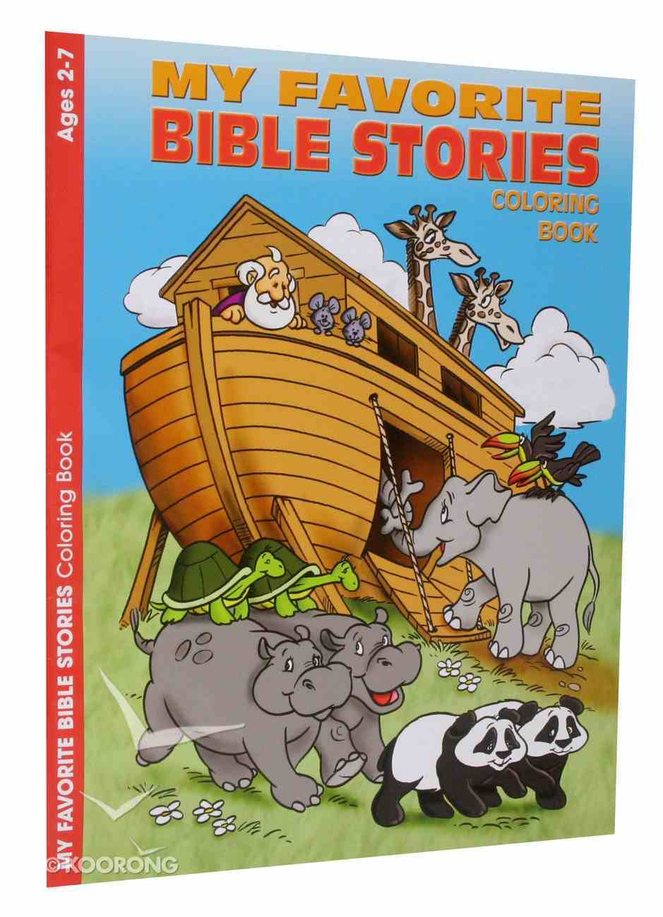 Colouring Book: My Favourite Bible Stories (Ages 2-7, Reproducible) Paperback