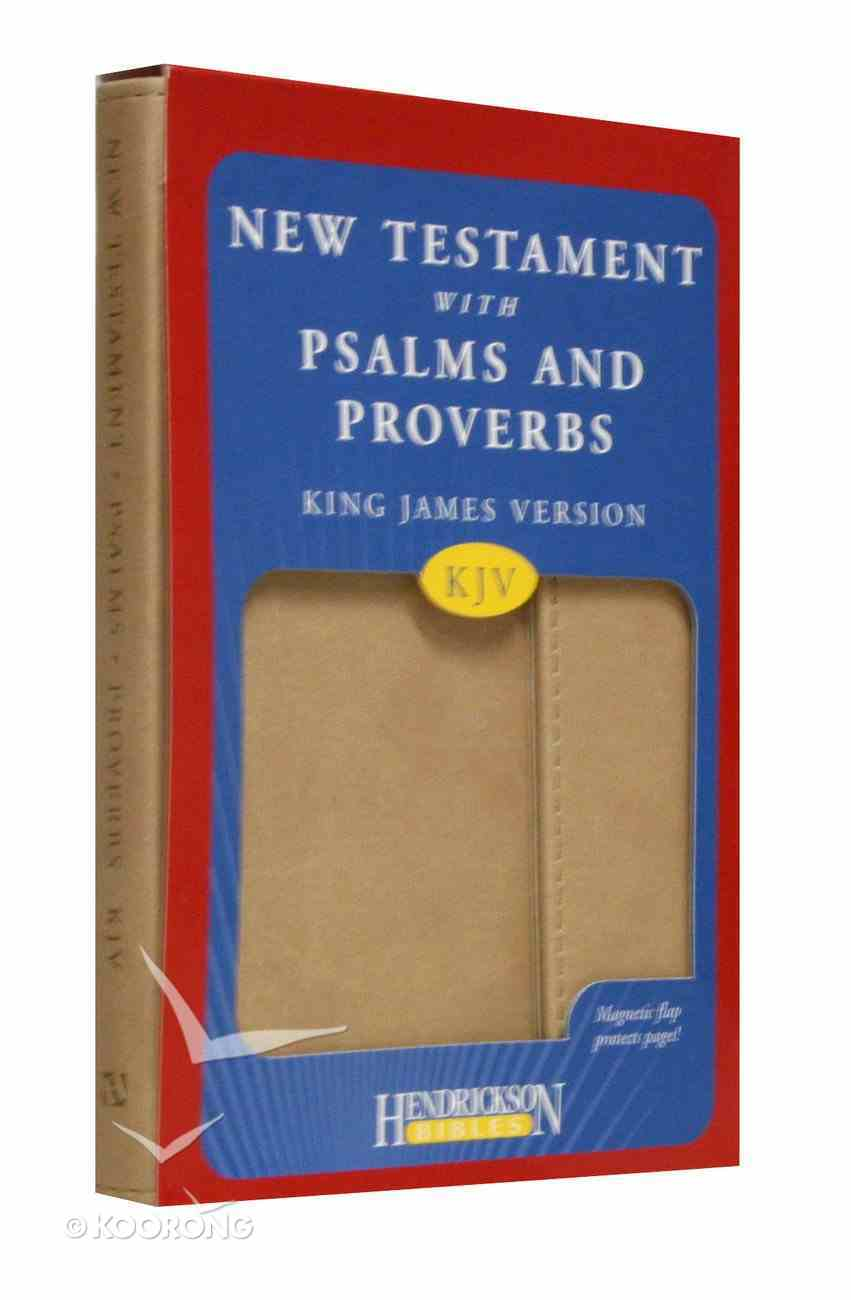 KJV New Testament With Psalms and Proverbs Magnetic Flap Tan Imitation Leather