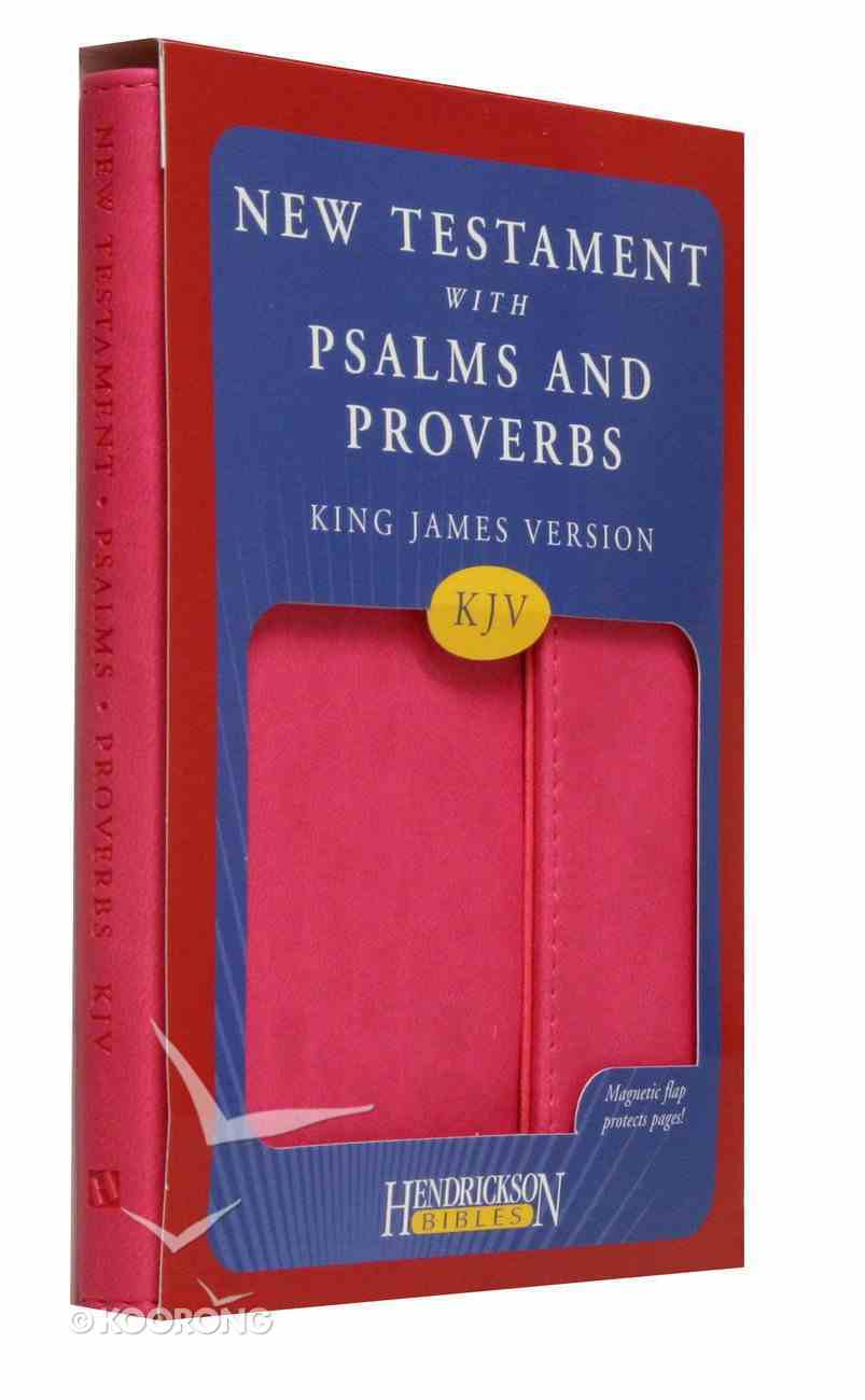 KJV New Testament With Psalms and Proverbs With Magnetic Flap Pink Imitation Leather