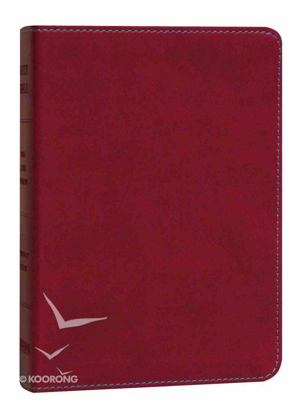 KJV Hendrickson Compact Reference Large Print Berry Imitation Leather