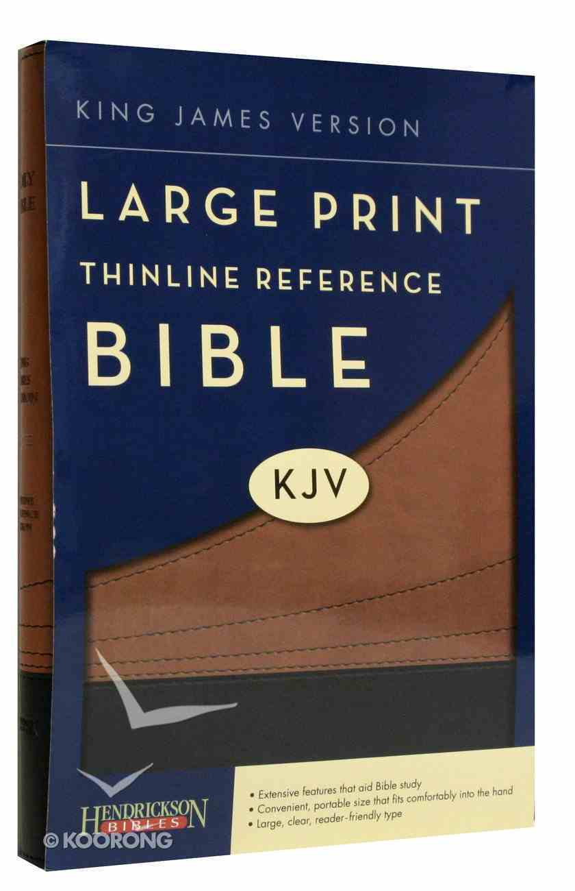 KJV Large Print Thinline Reference Bible Cocoa/Black (Red Letter Edition) Imitation Leather