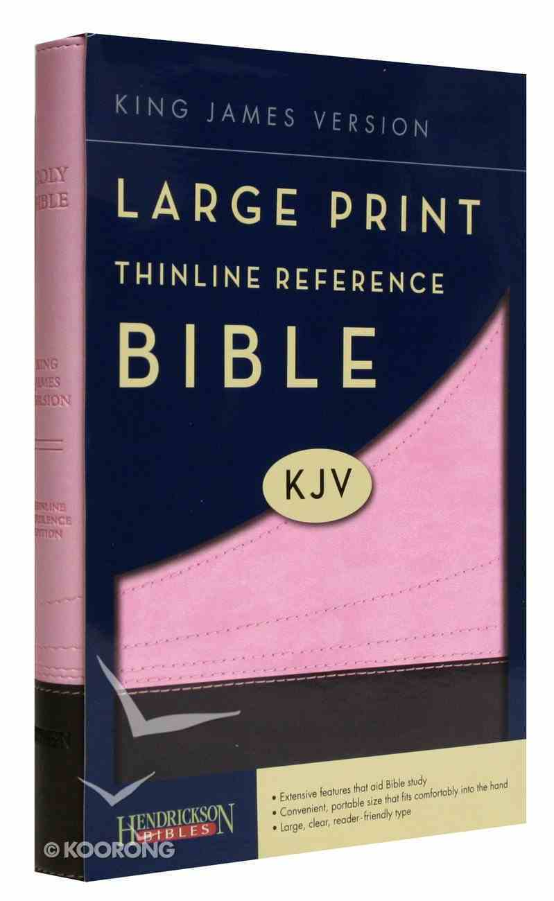 KJV Large Print Thinline Reference Bible Chocolate/Pink (Red Letter Edition) Imitation Leather