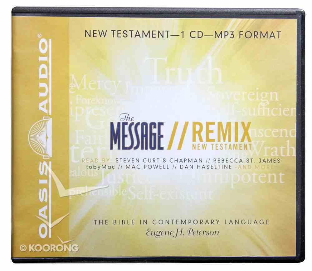 Message Remix New Testament MP3 (Unabridged) CD