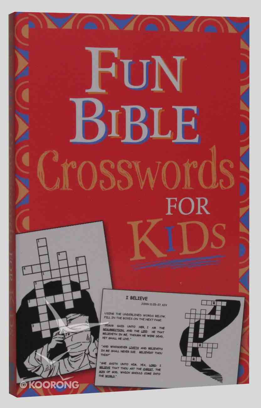 Fun Bible Crosswords For Kids Paperback