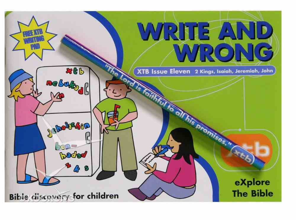 Write and Wrong (#11 in Explore The Bible Series) Paperback