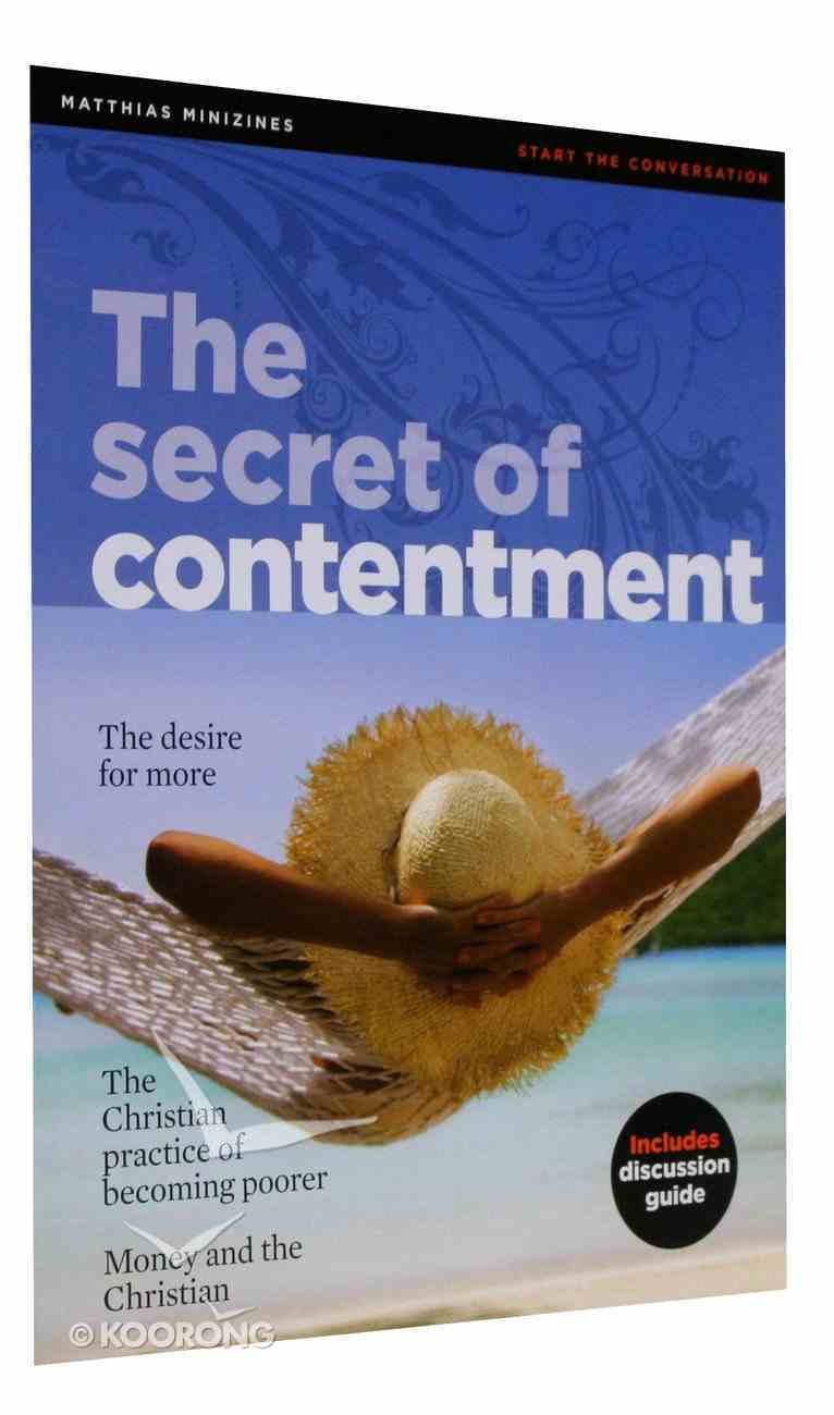 The Secret of Contentment (Matthias Minizines Series) Paperback