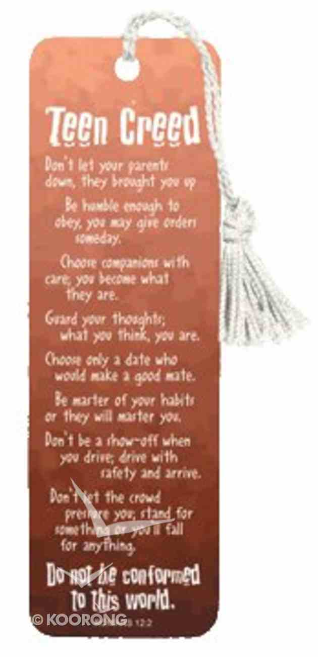 Bookmark With Tassel: Teen Creed Stationery