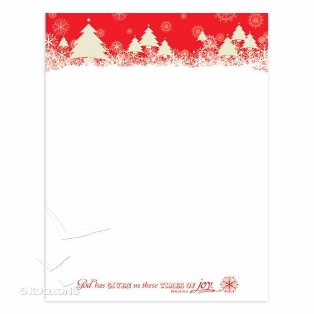Christmas Laser Stationery: Time of Joy, Psalm 81:4, 21.5cm X 28Cm Stationery