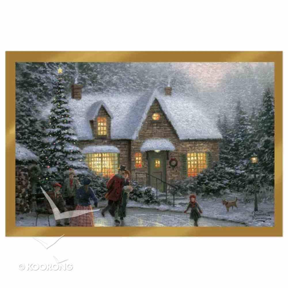 Christmas Boxed Cards: Thomas Kinkade Skaters Pond Cards