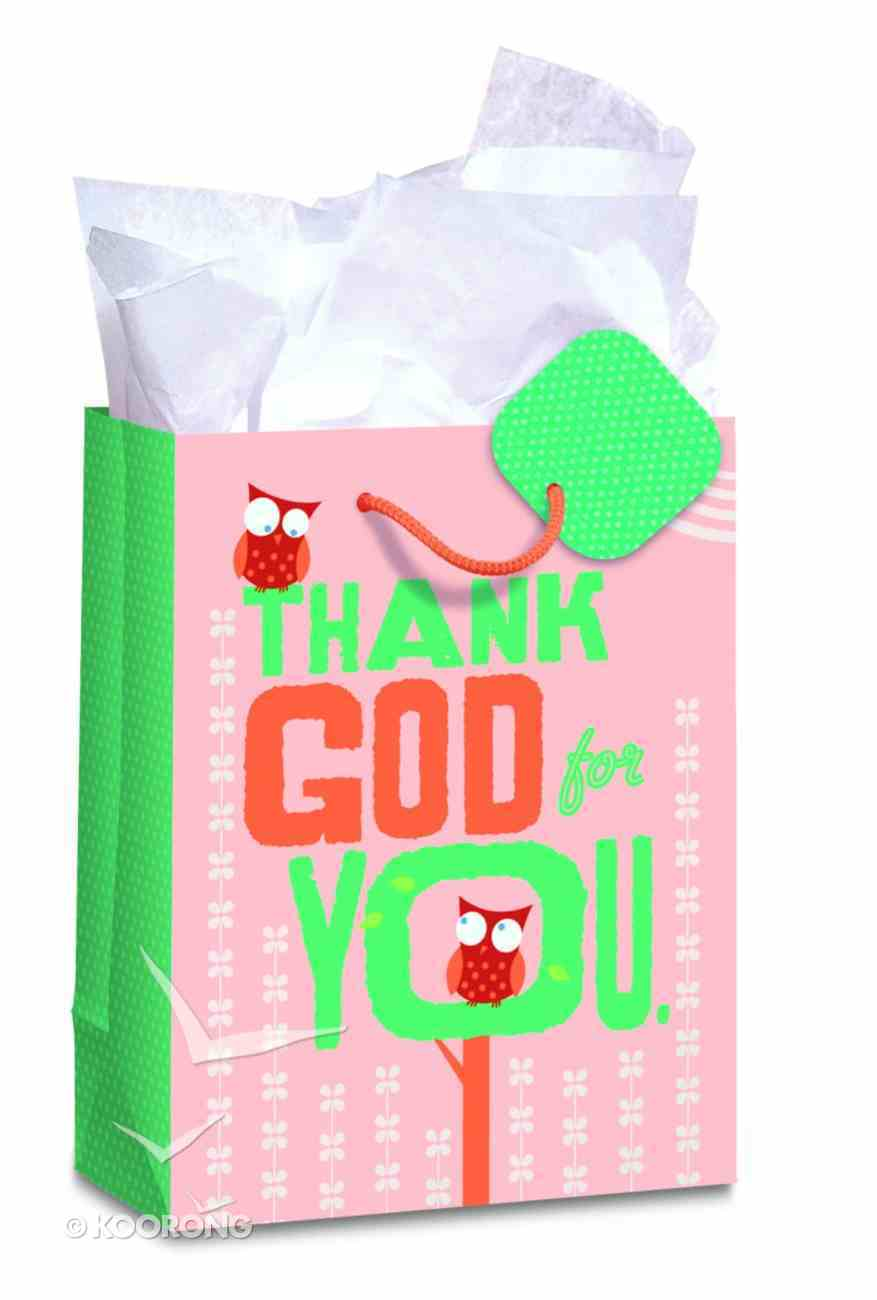 Gift Bag Small: Owls Thank God (Incl Tissue And Gift Tag) Stationery
