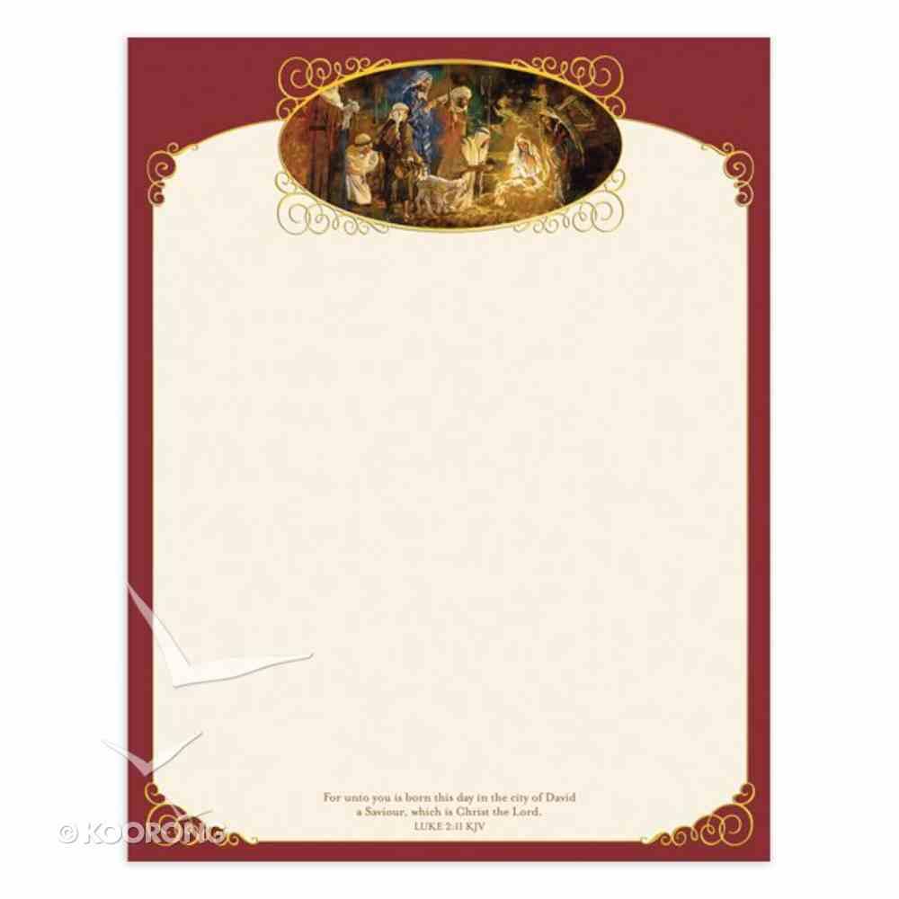 Christmas Laser Stationery: Nativity, Luke 2:11, 21.5cm X 28Cm Stationery