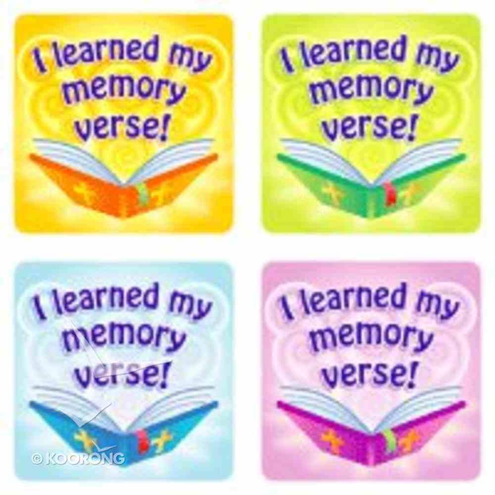 Sticker Pack: I Learned My Memory Verse Novelty