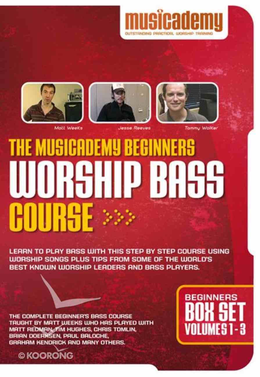 Musicademy: Beginners Worship Bass Course Box Set (Volumes 1-3) DVD