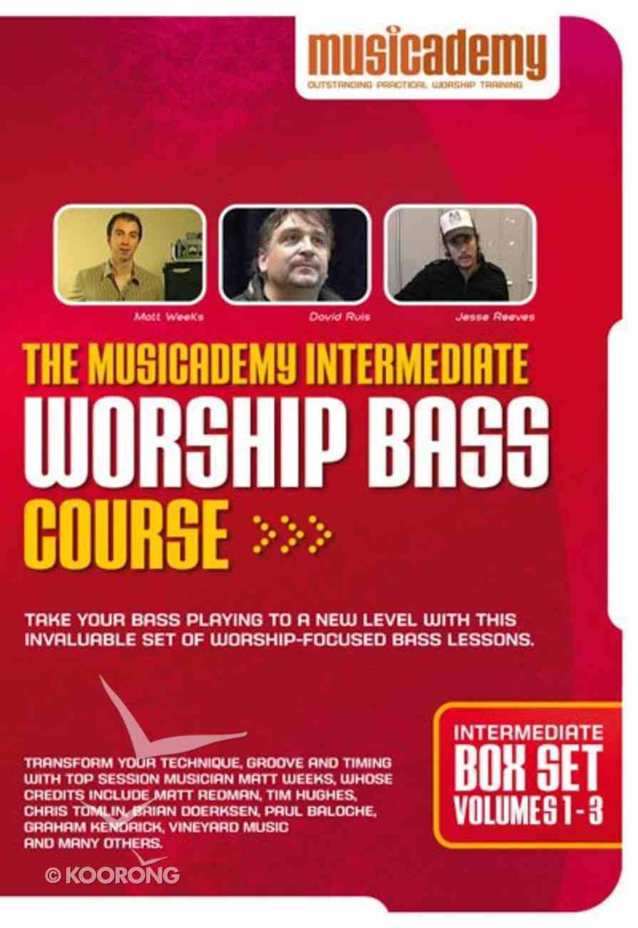 Musicademy: Intermediate Worship Bass Course Box Set (Volumes 1-3) DVD