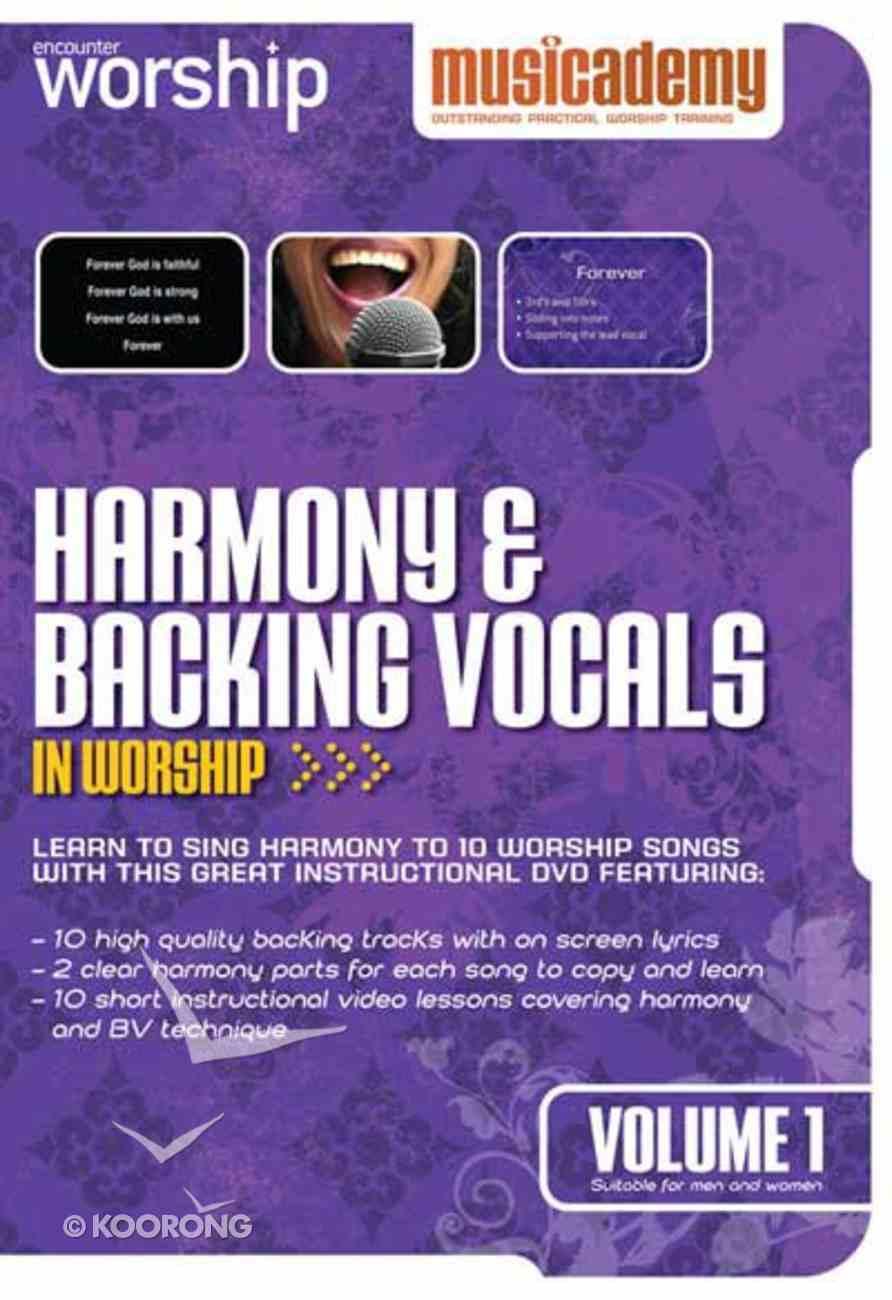 Musicademy: Harmony & Backing Vocals in Worship Volume 1 DVD