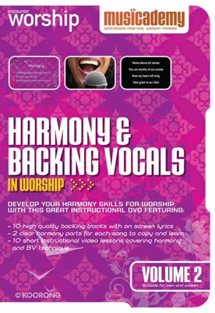 Musicademy: Harmony & Backing Vocals in Worship Volume 2 DVD