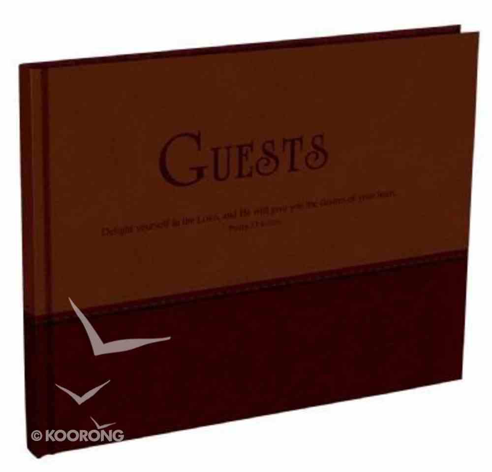 Guest Book: Large Two Tone Soft Tone Dark Brown/Brown Stationery