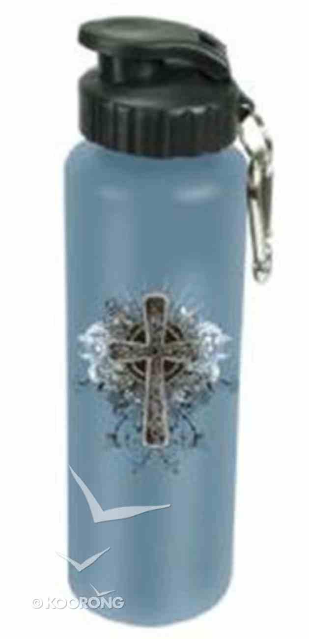 Water Bottle 750ml Stainless Steel: Cross (Hand Wash Only) Homeware