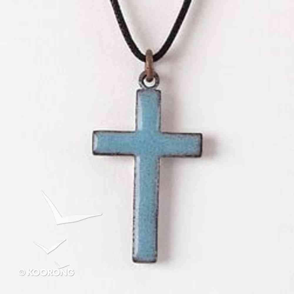 Pendant: Cross Blue Enamel Jewellery