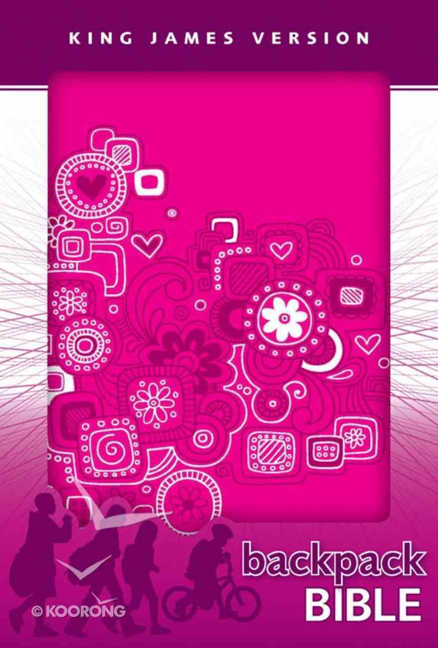 KJV Backpack Bible Pink Graffiti (Red Letter Edition) Imitation Leather