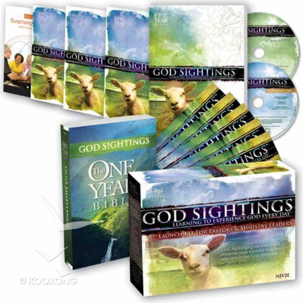 The One Year Bible: God Sightings (Niv Launch Kit For Leaders) Pack