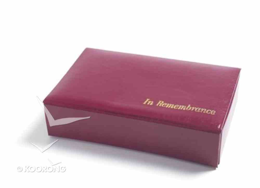 Portable Communion Set: The Basic (Maroon/red) Church Supplies