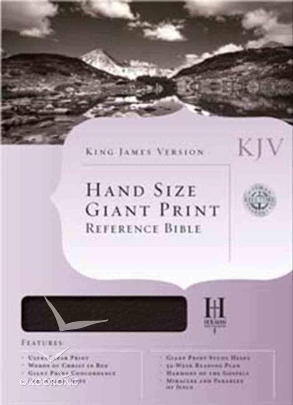 KJV Hand Size Giant Print Reference Burgundy Indexed Bonded Leather