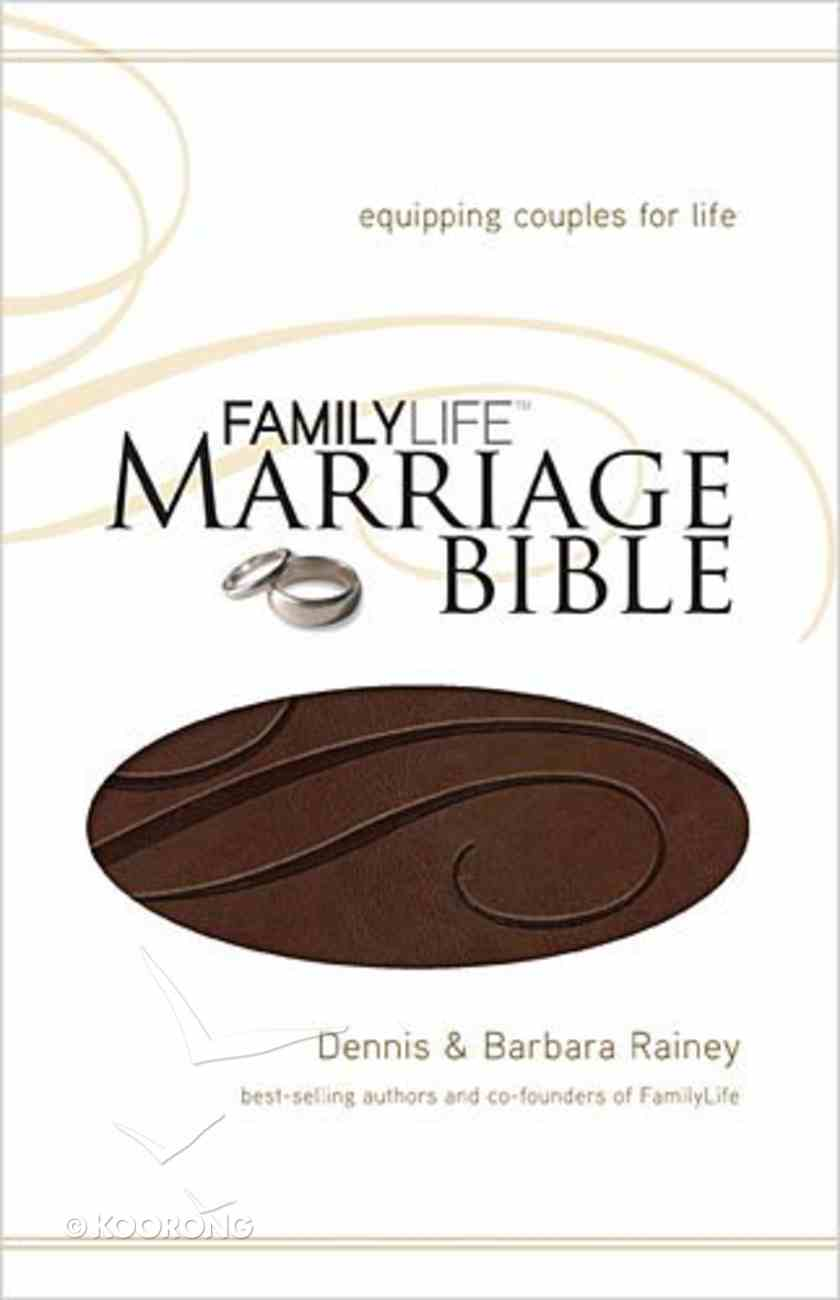 NKJV Family Life Marriage Dark Brown (Black Letter Edition) Premium Imitation Leather