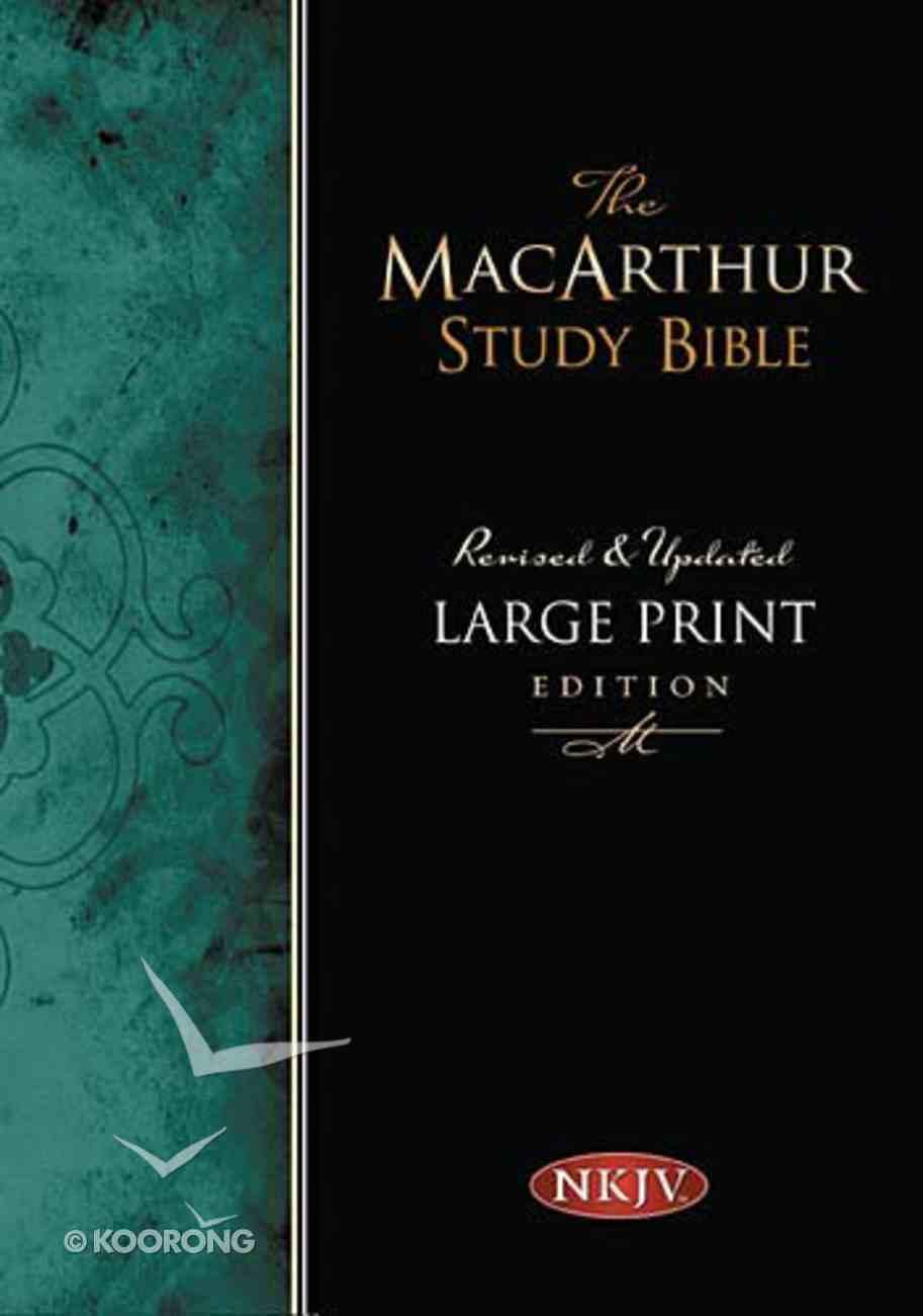 NKJV Macarthur Study Large Print Black (Black Letter Edition) Bonded Leather