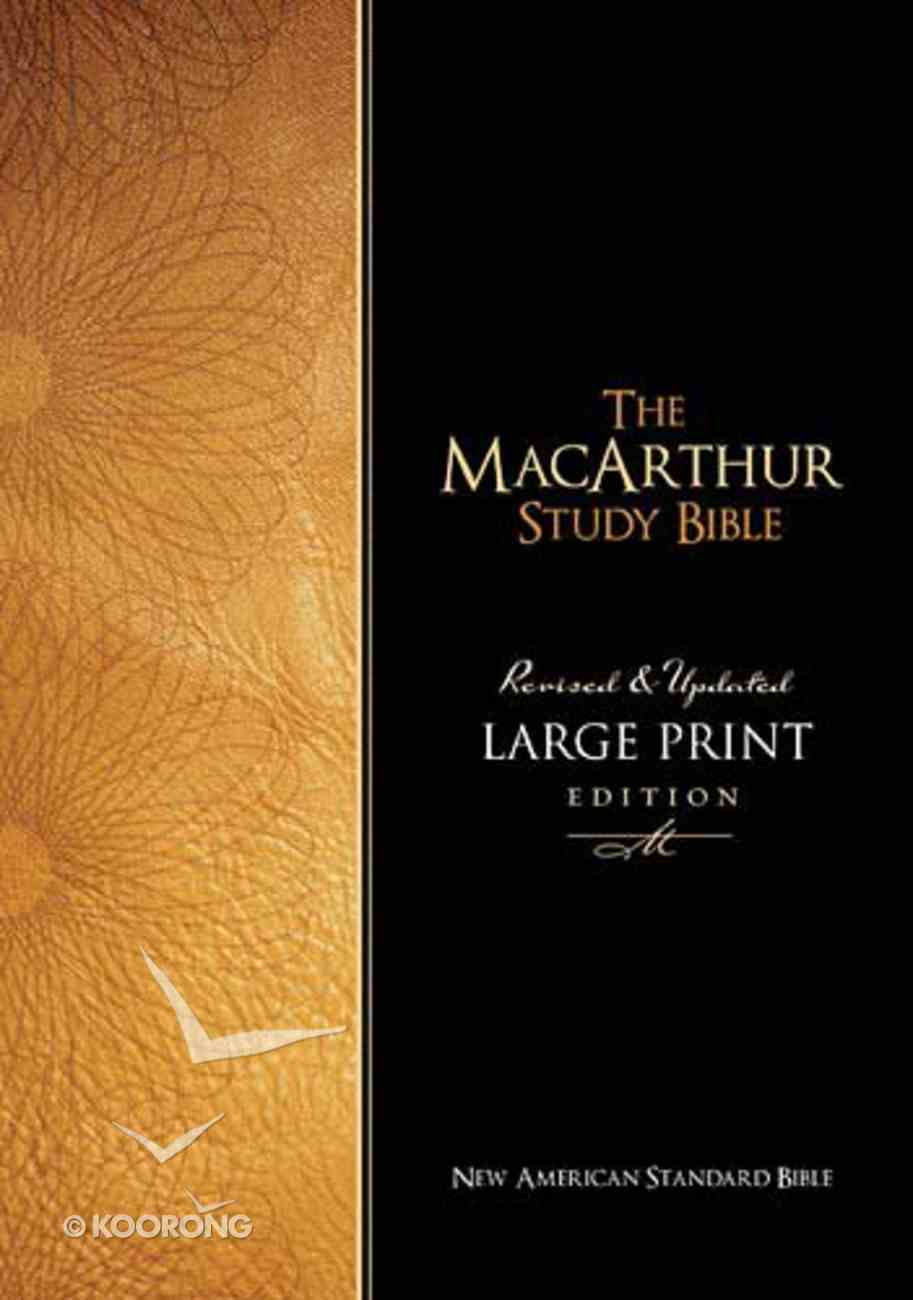 NASB Macarthur Study Bible Large Print Black Bonded Leather