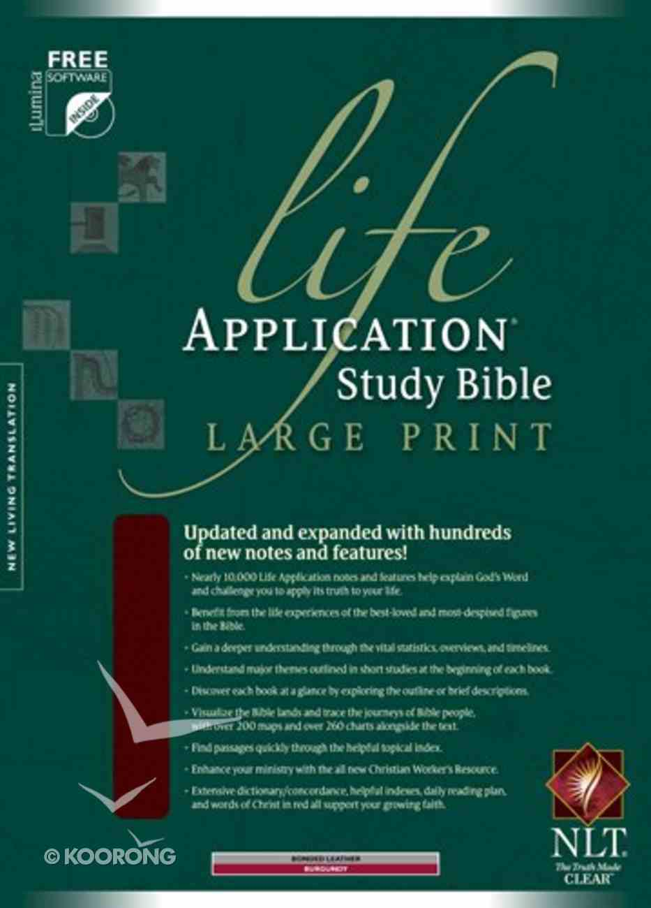 NLT Life Application Study Indexed Bible Burgundy Large Print (Red Letter Edition) Bonded Leather