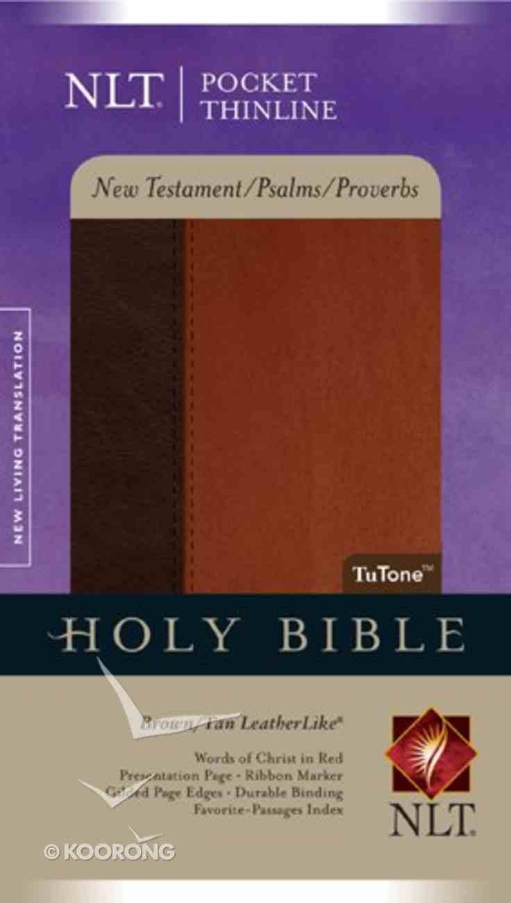 NLT Pocket Thinline New Testament, Psalms & Proverbs Brown/Tan Imitation Leather