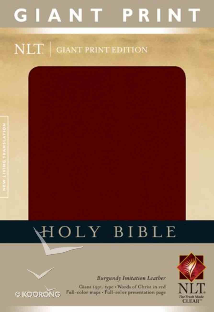 NLT Holy Bible Giant Print Edition Burgundy Imitation Leather