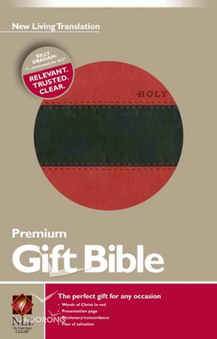 NLT Premium Gift Bible Tutone Red/Black Imitation Leather