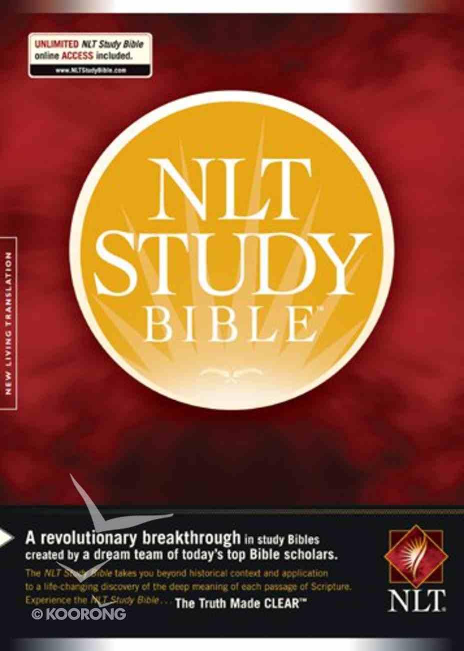 NLT Study Bible Indexed Hardback