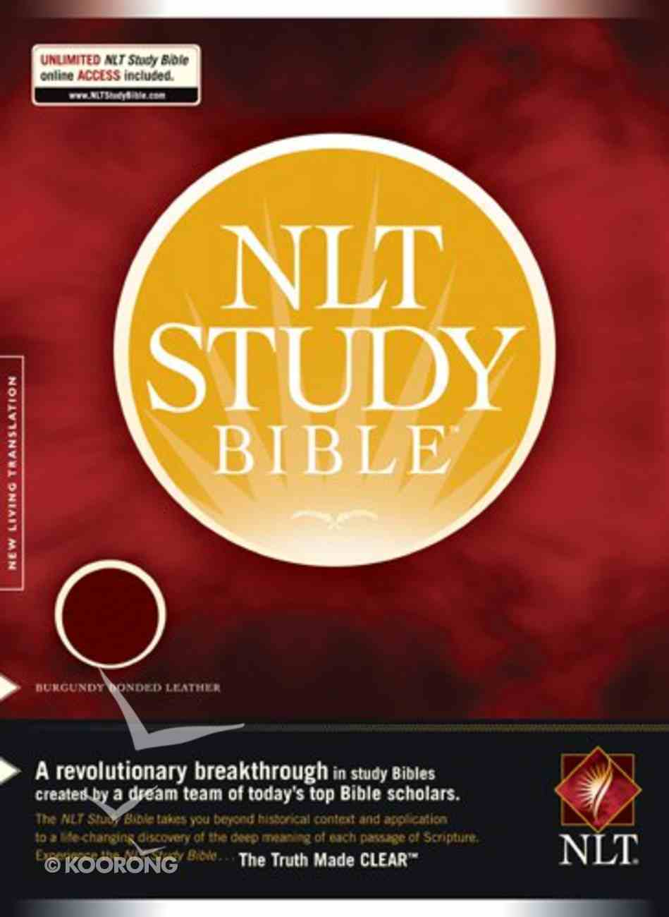 NLT Study Bible Burgundy (Red Letter Edition) Bonded Leather