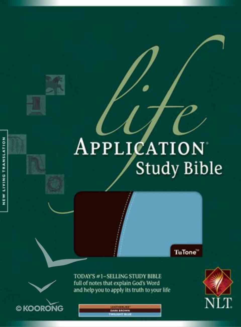 NLT Life Application Study Bible Dark Brown/Twilight Blue Imitation Leather