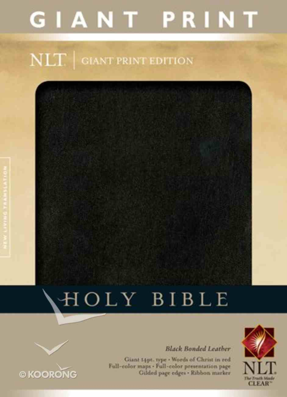 NLT Holy Bible Giant Print Indexed Black (Red Letter Edition) Bonded Leather