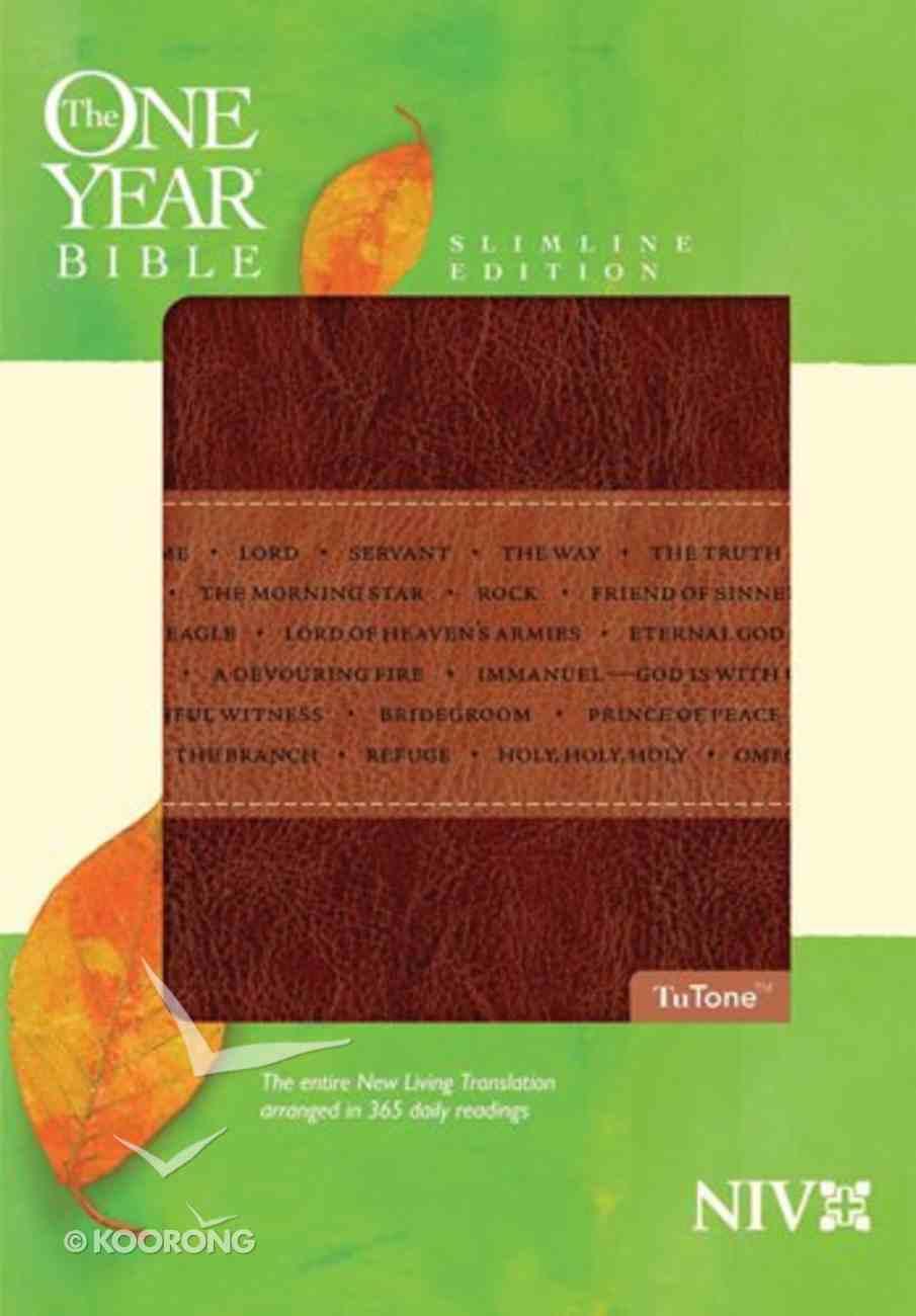 NIV One Year Bible Slimline Tutone (Black Letter Edition) Imitation Leather