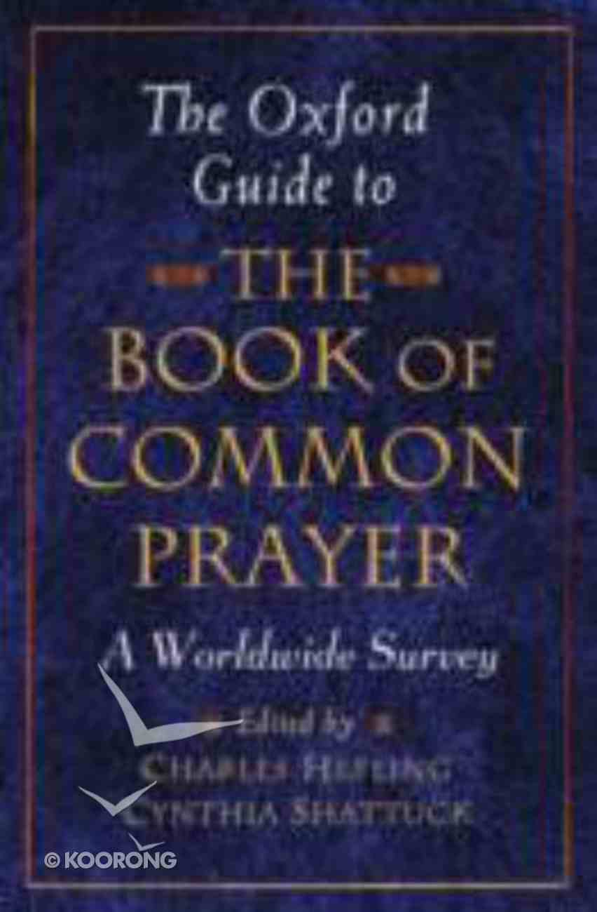 The Oxford Guide to the Book of Common Prayer Paperback