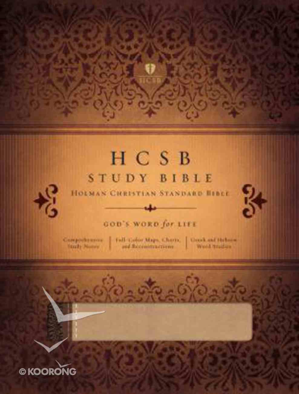 HCSB Study Bible Dark Brown/Taupe Duotone Imitation Leather