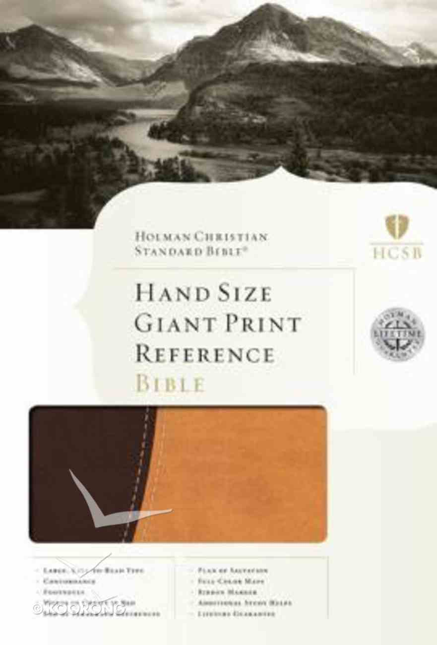 HCSB Hand Size Giant Print Reference Bible Dark Brown/Light Brownbonded Leather Bonded Leather
