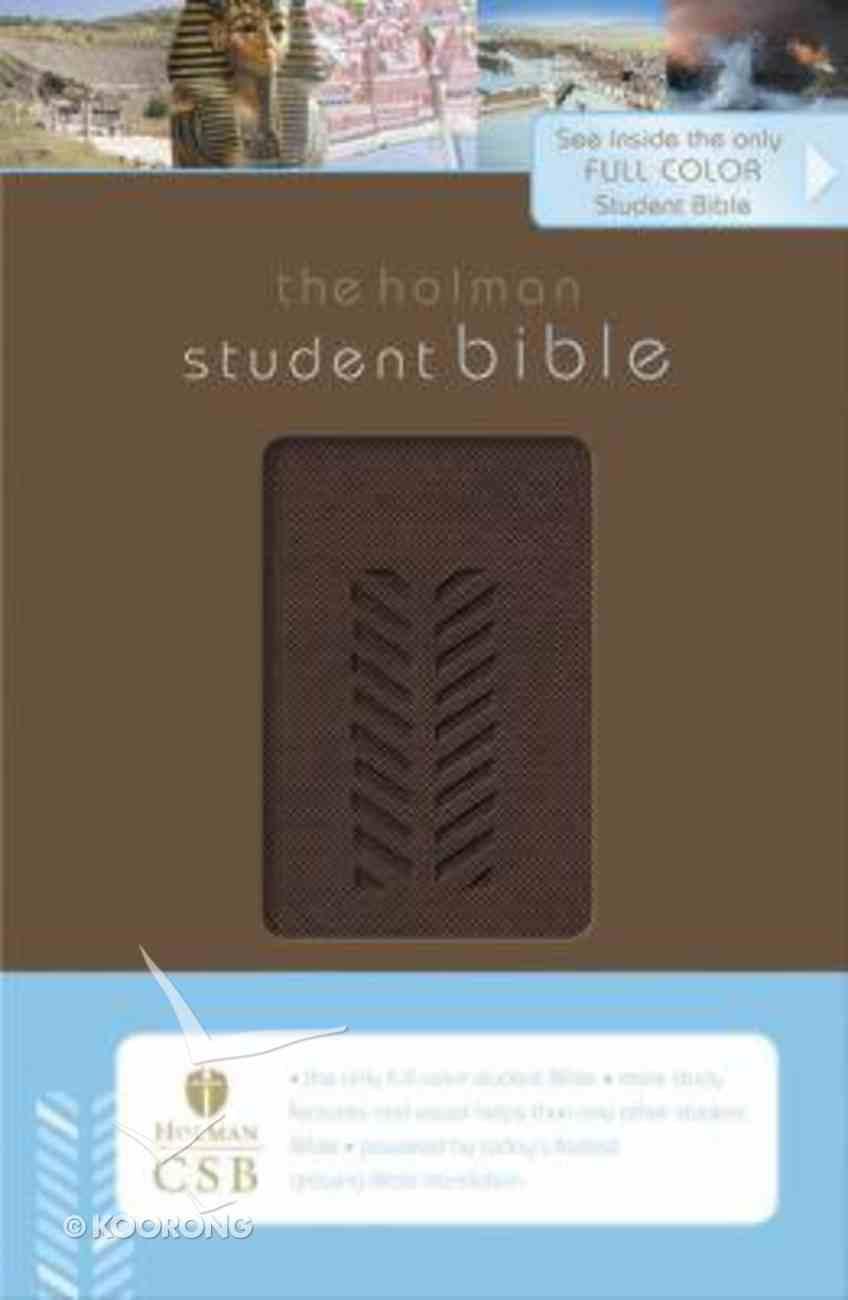 HCSB Student Bible Brown Imitation Leather