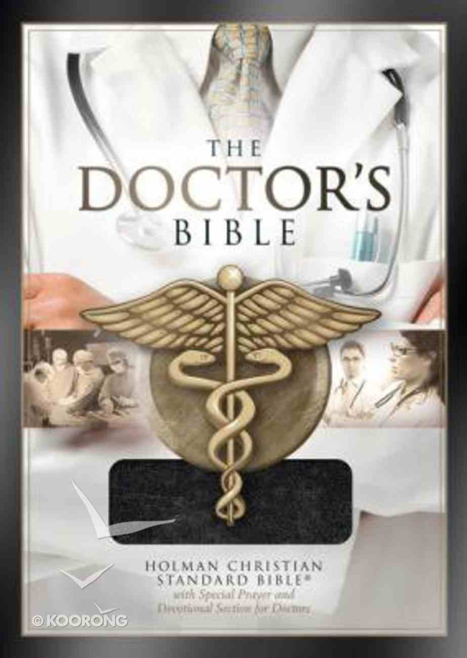 HCSB Doctor's Bible Black Bonded Leather