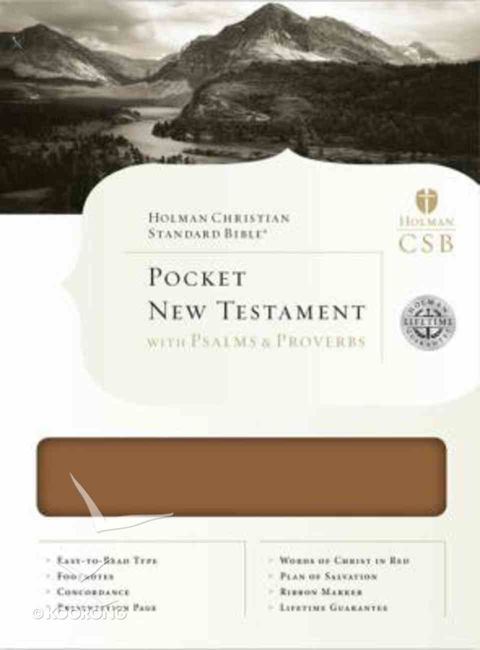 HCSB Pocket New Testament With Psalms and Proverbs Bonded Leather