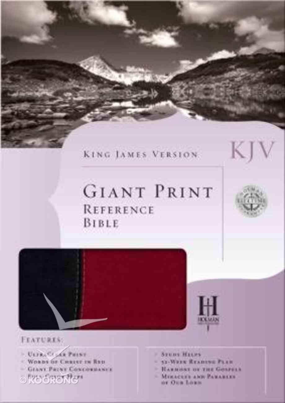 KJV Giant Print Reference Bible Black/Burgundy Imitation Leather