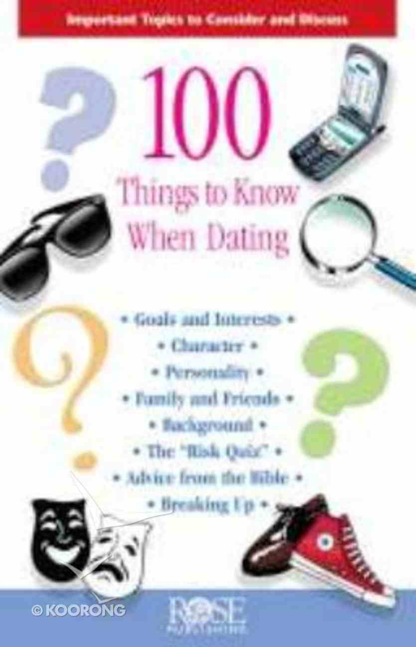 100 Things to Know When Dating (Rose Guide Series) Pamphlet