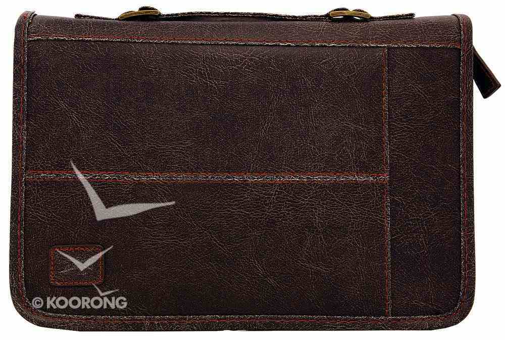 Bible Cover Aviator Leather-Look Brown Large Bible Cover