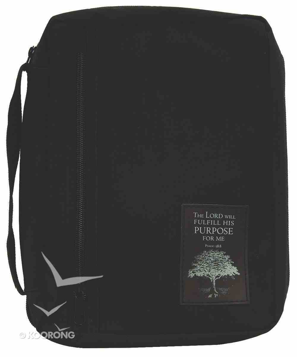 Bible Cover Extra Large: Black Nylon With Purpose Driven Life Patch Bible Cover